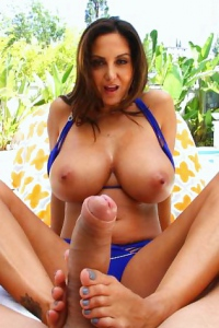 Ava Addams Great Footjob