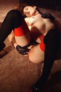 Aimee Sweet Black And Red Lingerie