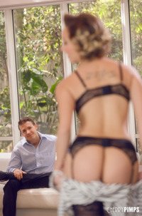 Eliza Jane In Black Lingerie And Thigh High Stockings