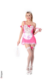 Blonde Pink French Maid Olivia Sin