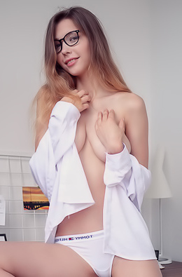 Mila Azul Busty Girl Strips Her Clothes
