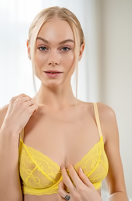 Jane F In Sexy Yellow Lingerie
