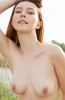 Dominika Jule Showing Her Naked Body Posing Outdoors
