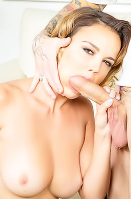 Dillion Harper Loads Her Mouth With Big Dick