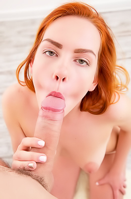 Kinky Redhead Candy Red Gets Stuffed With Cock