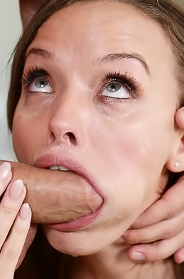 Pristine Edge Makes Sloppy Blowjob With A Facial Finish