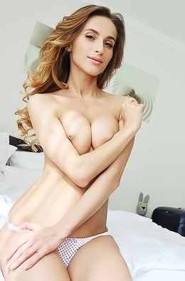 Cara Mell - Amazing naked beauty with huge breasts is ready for you